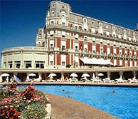 Former palce now Luxury Hotel in France poolside photo