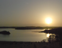 Sunset on Castle Hume Lough photo