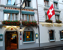 Wilden Mann Swiss Traditional Romantic Hotel Front photo