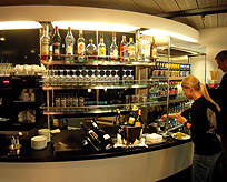 Swiss Buisness Class Lounge Beverage Bar photo